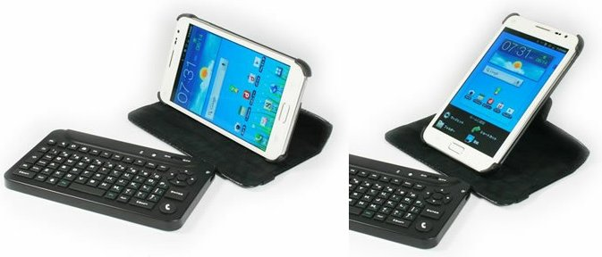 GALAXY Noteをキーボードで使う! Bluetoothキーボード付き専用カバー【イケショップのレア物】