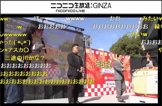 オープニングセレモニーに登壇した西川きよし氏ニコニコ生放送