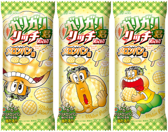 【赤城乳業】ガリガリ君リッチメロンパン味3連