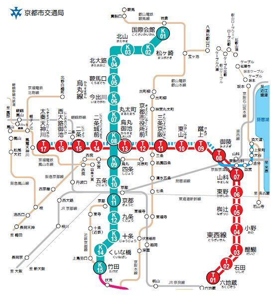 s-京都市営路線図