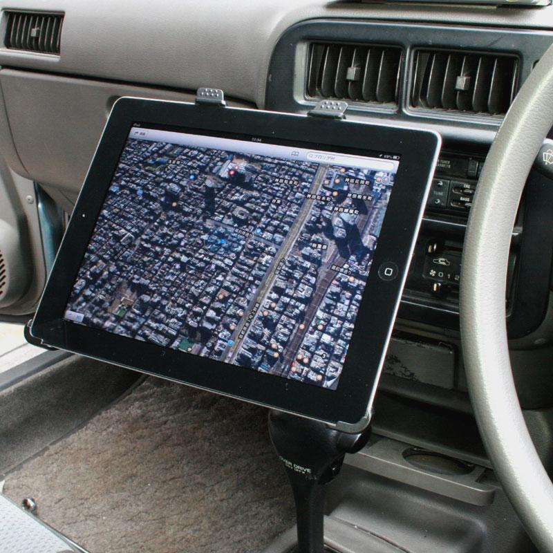 iPadを車載するならこれ!シートレールに固定するカーホルダー登場【イケショップのレア物】
