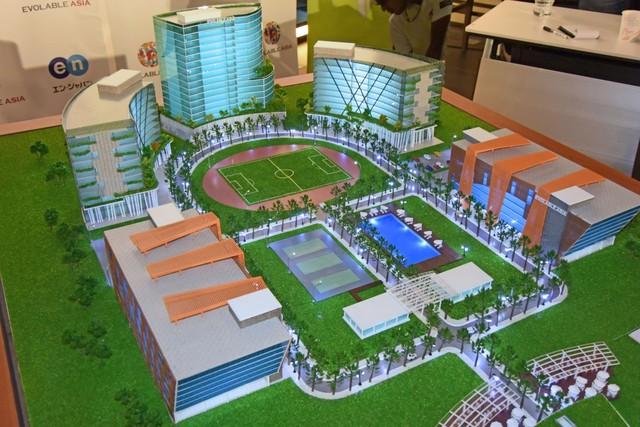 Evolable Asia Town 構想における、エンジニア1万人規模のITタウンの模型