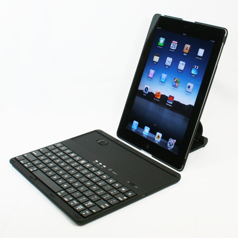 こいつはクール! iPadをPCライクにするマルチスタンドBTキーボードケース【イケショップのレアもの】
