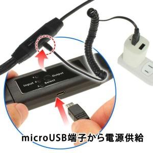 電源が足りないときは、microUSB経由で給電可能だ。