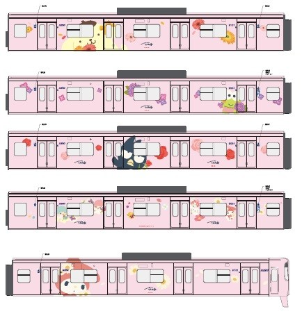 キティちゃん電車③