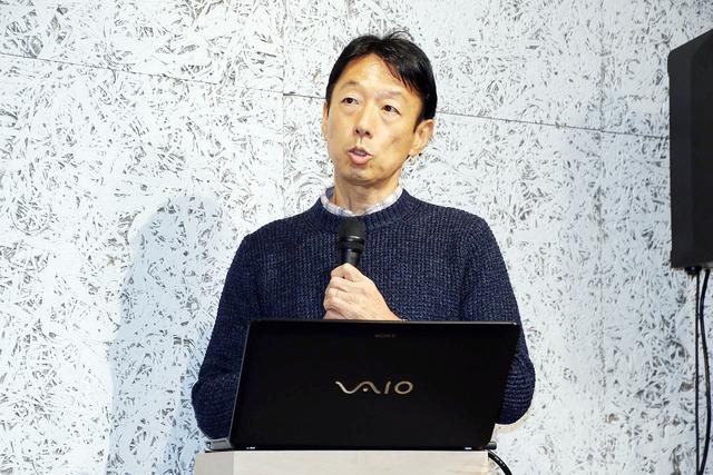 ソニースクエア渋谷プロジェクトについて説明する梶尾氏