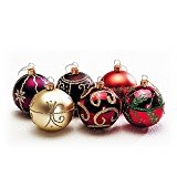 フローレックス(FLOREX) クリスマスデコレーション オーナメント ニューアンティックカラーボール 径6cm XO-2116