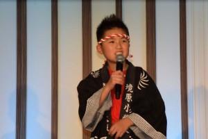 日本マイクロソフト特別賞を受賞した橋本市立境原小学校の堀田顕大さん