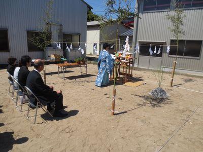 浅田邸地鎮祭