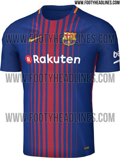 【画像】バルセロナ、「楽天」のロゴが入る来季ユニデザインが判明?実物写真を入手!