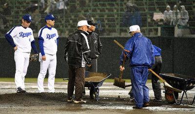 中日鈴木博志ピンチ雨に救われ「グチになる」森監督