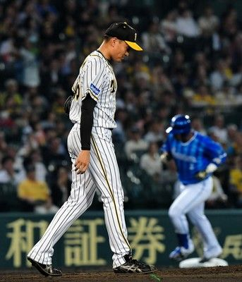 阪神・秋山、5回4失点KO2連続完投勝利中も制球甘く