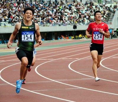 山県亮太が10秒01で優勝、2位は桐生