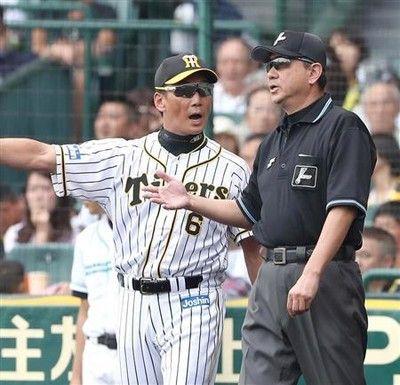 藤川離脱、巨人戦不可解判定…金本監督踏んだり蹴ったり