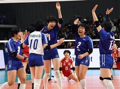 金蘭会が2連覇東九州龍谷にフルセット勝ち/春高バレー