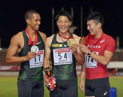 桐生がアジア大会100メートル出場逃す10秒16で3着
