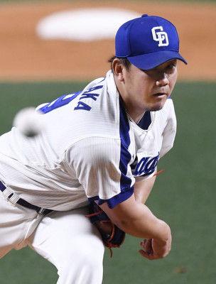 中日松坂が日本球界4241日ぶりの白星最速147キロ8四死球も1失点踏ん張る