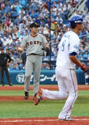 巨人・菅野、珍しい押し出し…3連続四球にスタンドどよめき