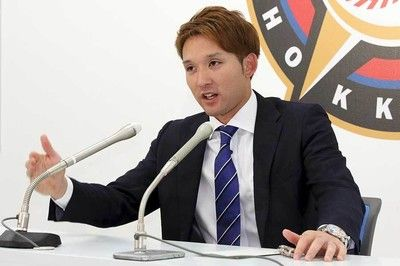 日本ハム杉谷が自己最高額でサイン「始まりましたよ、公開処刑」と爆笑会見