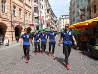 日本代表オーストリア入り、練習からオフ変更でリラックス