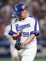 松坂、古巣ソフトB戦で勝利投手の権利を得て降板5回1失点