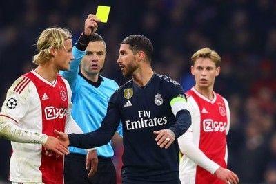 """S・ラモス、""""意図的イエロー""""で次戦出場停止…UEFAが調査、追加処分も"""