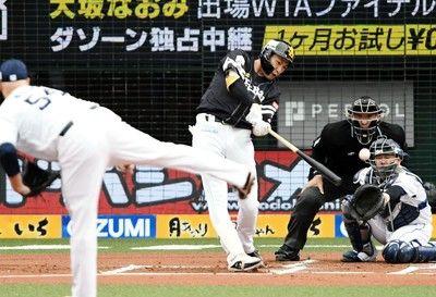 ソフトバンクの勢い止まらず初回柳田の二塁打で3点先制
