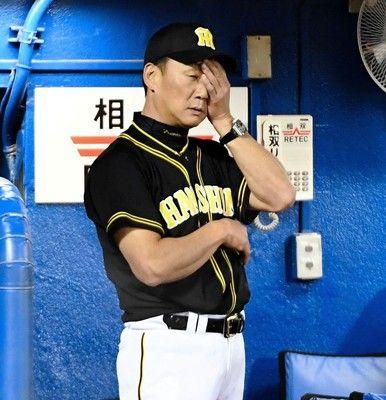 阪神 リクエストで最後の打者・糸原アウト…敗戦V完全消滅