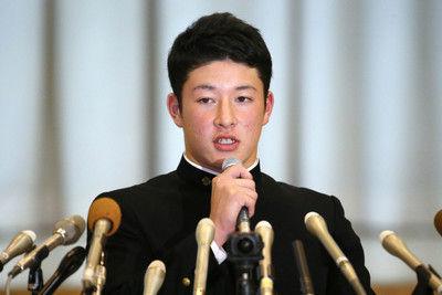 「中田翔選手に会ってみたい」ハム指名の金足農・吉田