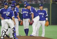 【中日】松坂、右足にアクシデントか移籍後4戦目で最短3回途中緊急降板&ワースト4失点