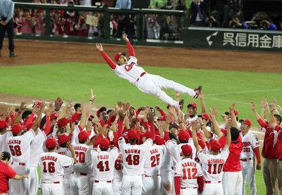 カープ球団初の3連覇地元・広島地区の視聴率は平均54・0%瞬間最高68・8%