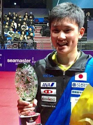 15歳・張本史上最年少王者に「優勝してこんなに興奮したことはない」