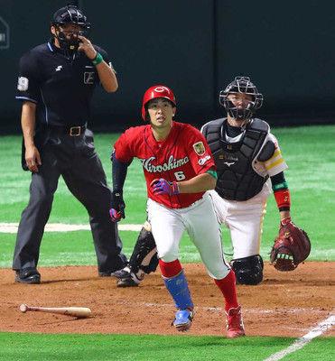 広島、安部が満塁本塁打!8回5点差から一気1点差に!「必死に食らい付いていきました」