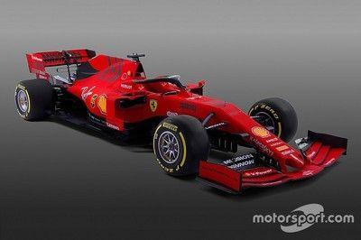 【F1新車発表】今年のフェラーリは赤+黒。ニューマシンSF90を発表。新体制で11年ぶり王座を狙う