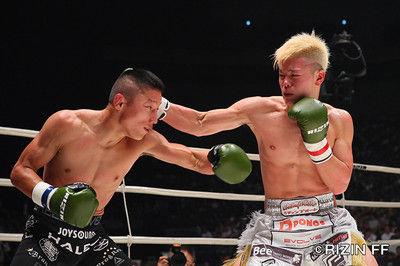 那須川天心が堀口恭司にキックルールで判定勝利!天心「必殺技のシャイニング・ウィザードが出せなかった」
