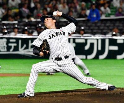 侍ジャパン先発・笠原が好投2回を1安打無失点、稲葉監督へ存在アピール