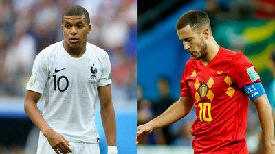 フランスとベルギーのスタメンが発表!スター軍団対決は事実上の決勝か