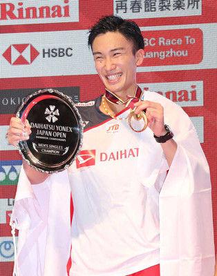 桃田初Vで五輪へ自信「世界選手権よりも勝ちたい気持ちが強かった」