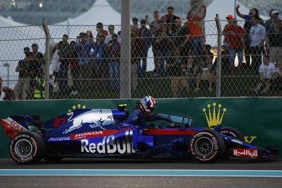 ガスリーがパワーユニットのトラブルでQ1敗退「最終戦の予選が残念な結果に。早急に分析し、決勝への準備を行う」とホンダ田辺TD:F1アブダビGP