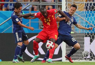 <サッカー日本代表>0-0で後半へ決勝Tベルギー戦