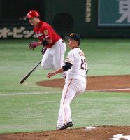 【巨人】内海、初回に丸の適時打、鈴木の2ランで3失点