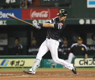 ソフトB上林サイクル安打王手CS最多タイ6打点、残るは二塁打