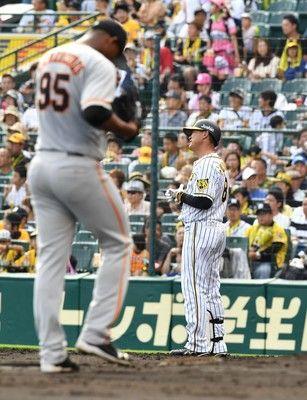 阪神六回まで1安打右翼スタンドから「気合を入れろ」