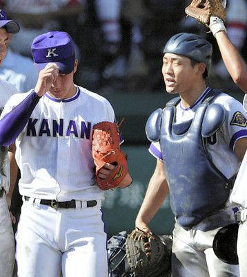 <夏の高校野球>「今までありがとう」吉田から菊地捕手に