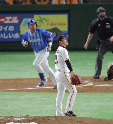 巨人・吉川光4回途中5失点KODeNA打線につかまる