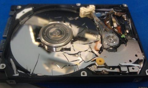 HDDは物理的にぶっ壊せ!