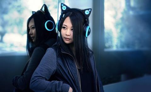 猫耳スピーカー搭載ヘッドフォン