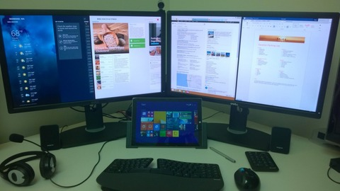 Surface Pro 3マルチモニター