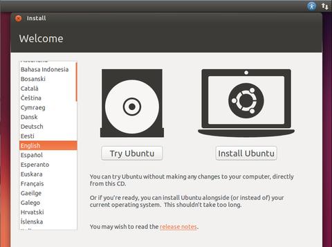 Ubuntuのインストール方