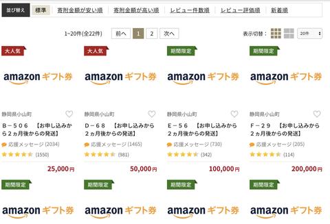 ふるさと納税の返礼品をAmazonギフト券にしていた静岡県小山町、寄付金額249億円という驚異の記録を樹立